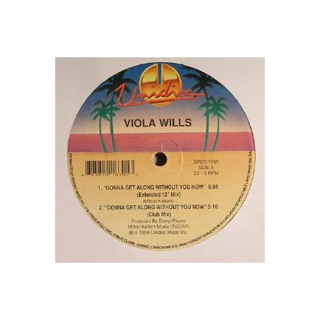 Viola Wills -  Gonna Get Along Without You Now - Maxi Vinyl Canada