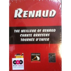 Renaud - The Meilleur of Renaud - Chante Brassens - Tourrnée d'Enfer - Box Collector 2CD +1 DVD