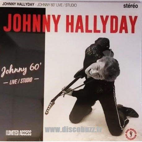 Johnny Hallyday - Johnny 60 Live Studio - LP Vinyl 10 inches - 25 Cm