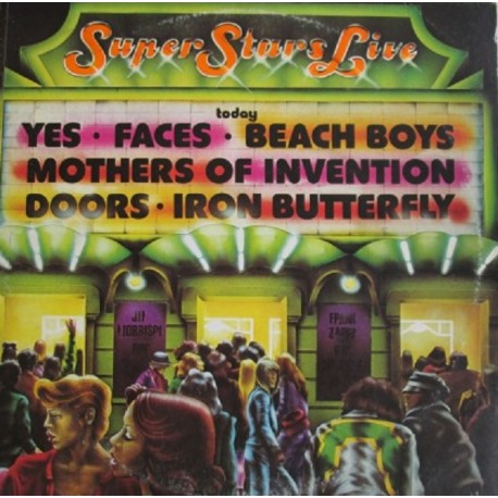 Super Stars Live ( Yes, Faces, Beach Boys, Mothers of Invention, Doors, Iron Butterfly ) - Compilation - Triple Vinyl