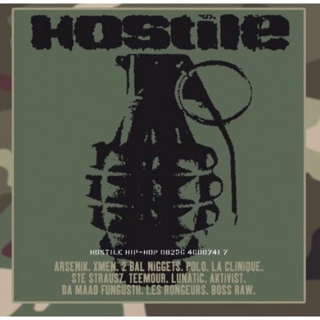 Hostile Hip-Hop - Compilation Rap Français - LP Vinyl Album - Coloured White - Limited Edition 20 th Anniversary