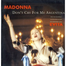 Madonna ‎– Don't Cry For Me Argentina - Maxi Vinyl 12 inches