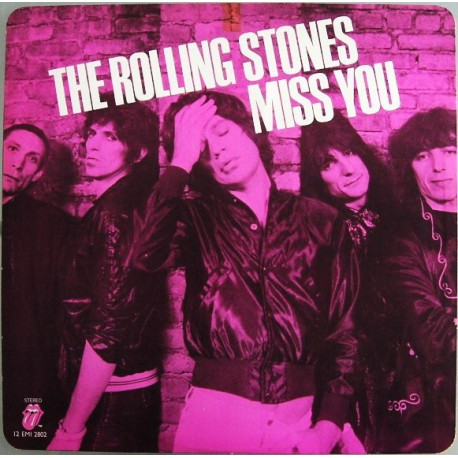 The Rolling Stones – Miss You - Maxi vinyl 12inches - Coloured Pink