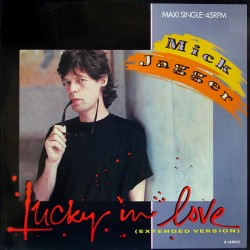 Mick Jagger ( The Rolling Stones ) ‎– Lucky In Love Extended Version - Maxi Vinyl 12 inches