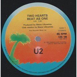 U2 ‎– Two Hearts Beat As One - Club Version - Maxi Vinyl 12 inches
