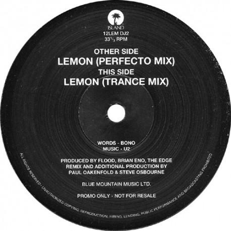 U2 – Lemon - Maxi Vinyl 12 inches - Promo