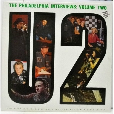 U2 – The Philadelphia Interviews - Volume Two - LP Vinyl Album - Coloured Green