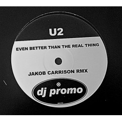 U2 ‎– Even Better Than The Real Thing - Jakob Carrison Rmx - Maxi Vinyl 12 inches