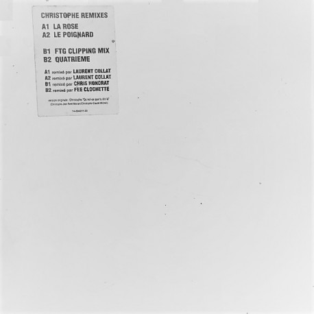 Christophe - La Rose - Le Poignard - Maxi Vinyl 12 inches - Promo