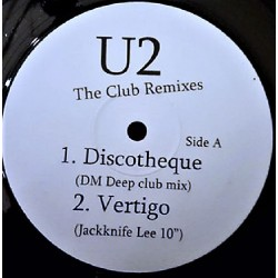 U2 ‎– The Club Remixes - Maxi Vinyl 12 inches - Discothèque - Vertigo