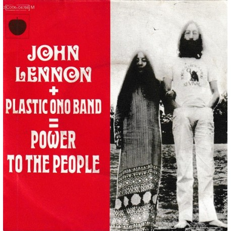 John Lennon (The Beatles) - Plastic Ono Band - Power To The People - SP 45 RPM Vinyl 7 inches
