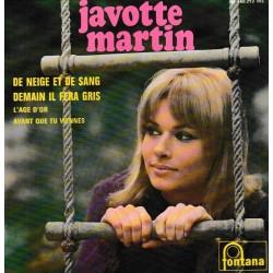 Javotte Martin – De Neige Et De Sang - EP Vinyl 45 RPM - 7 inches