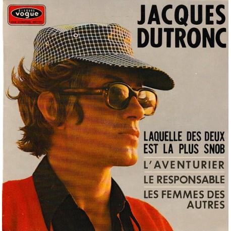Jacques Dutronc – Laquelle Des Deux Est La Plus Snob - EP Vinyl 45 RPM - 7 inches