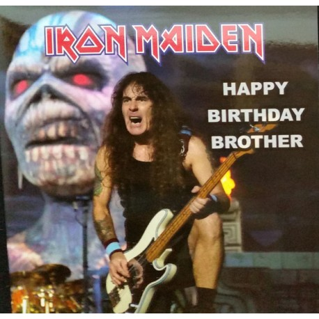 Iron Maiden ‎– Happy Birthday Brother - LP Vinyl Album - Coloured
