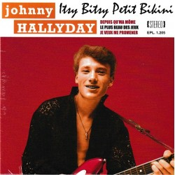 Johnny Hallyday - Lot collector 45 tours - 10 Vinyl 7 inches 45 RPM