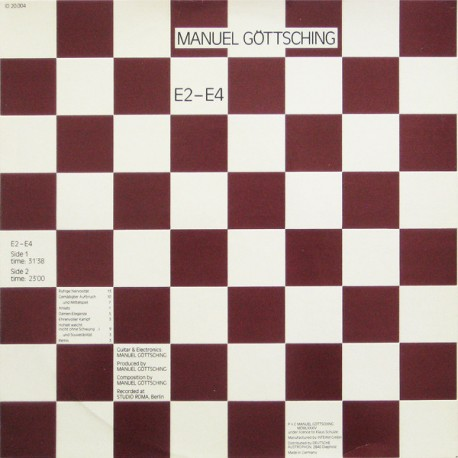 Manuel Göttsching – E2-E4 - LP Vinyl Album