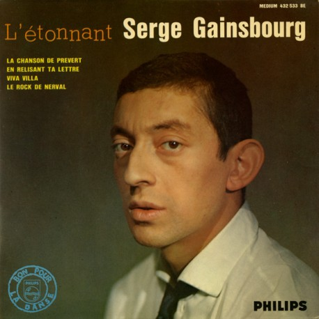 Serge Gainsbourg – L'étonnant Serge Gainsbourg - Vinyl 7 inches 45 RPM Mono