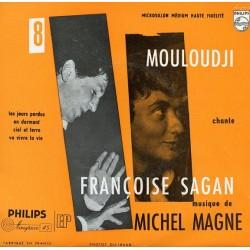 Mouloudji chante Françoise Sagan - Musique Michel Magne - Les Jours Perdus - Vinyl 7 inches