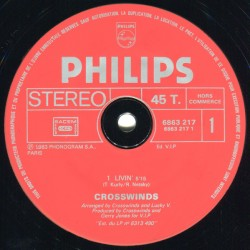 Crosswinds ‎– Livin' / Holding On - Maxi Vinyl 12 inches - Promo