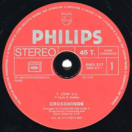 Crosswinds – Livin' / Holding On - Maxi Vinyl 12 inches - Promo