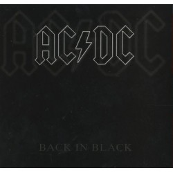 AC/DC ‎– Back In Black - LP Vinyl Album - Coloured Clear