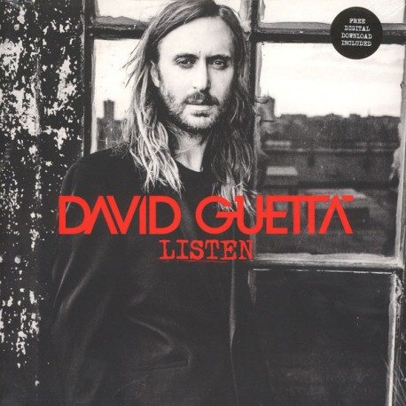 David Guetta ‎– Listen - Double LP Vinyl Album + MP3 Code