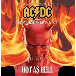 AC/DC ‎– Hot As Hell - Broadcasting Live - LP Vinyl Album Coloured