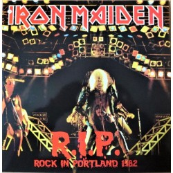 Iron Maiden ‎– Rock in Portland ( R.I.P. ) - LP Vinyl Album + Poster