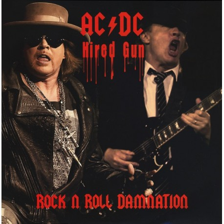 AC/DC ‎– Rock N Roll Damnation - Hired Gun - LP Vinyl Album Coloured