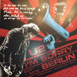 U2 ‎– I'm Sorry Berlin - LP Vinyl Album