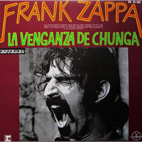 Frank Zappa – La Venganza De Chunga - LP Vinyl Album