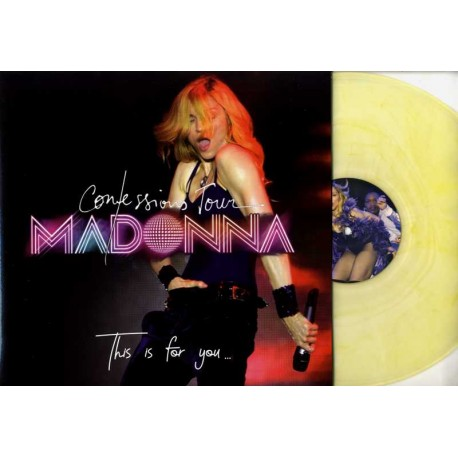 Madonna - Confessions Tour - This Is For You - LP Vinyl Album Coloured Yellow