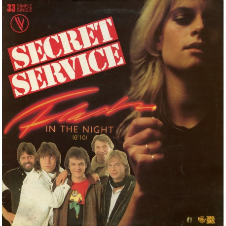 Secret Service – Flash In The Night - Maxi Vinyl 12 inches France