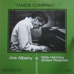 Joe AlbanNiels-Henning Ørsted Pedersen ‎– Two's Company - LP Vinyl Album - Bop Jazz