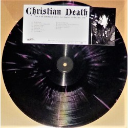 Christian Death ‎– Live At The Whiskey A Go Go, Los Angeles, October 31st, 1981 - LP Vinyl Album Coloured