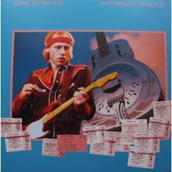 Dire Straits ‎– Wembley Nights - LP Vinyl Album - Coloured Blue
